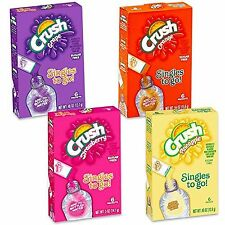 (6 Boxes) CRUSH - Singles To Go Sugar Free - 36 Pkts Total (Choose your flavor)