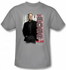 Adult Mens NCIS Crime TV Show Series The Boss Gibbs Silver Gray T-shirt Tee
