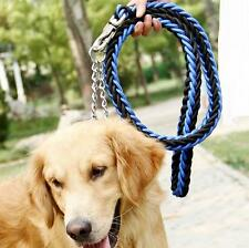 Durable Dog Pet Braided Nylon Rope Strap Lead Training Leash Outdoor Walk Collar