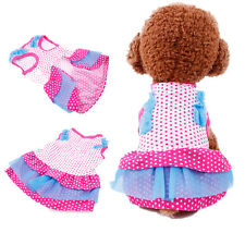 Small Medium Dog Dress Pet Clothes Cat Puppy Costume Chihuahua yorkie Schnauzer