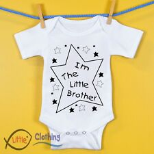 'I'm The Little Brother' Funny Baby Grow Bodysuit Vest Onesie Gift Ideas