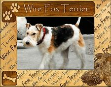 FOX TERRIER (WIREHAIRED) ENGRAVED ALDERWOOD PICTURE FRAME #0176 in 4 sizes