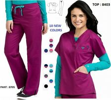 2017 NEW COLORS Med Couture Women's Scrub Sets (Top 8403 / Pant 8705)