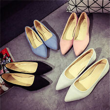 Fashion Casual Women's Ballet Flats Shoes Slip On Boat Loafers Single Shoes Hot