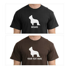 Briard Silhouette T-Shirt, Men Women Youth Long Personalized Tee custom dog