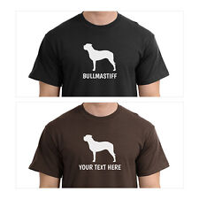 Bullmastiff Silhouette T-Shirt, Men Women Youth Long Personalized Tee custom dog