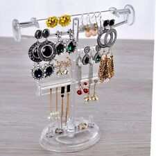 Clear acrylic Jewelry Earrings display stand Holder showrase Organizer rack