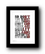 ❤ FRANK TURNER - Glorious You ❤ song lyrics typography art poster print #113