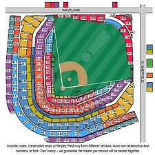 4 LOWER sec 223 Chicago Cubs Pirates HARD COPY Tickets 04/16/17 Wrigley Field