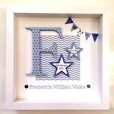 Personalised New Baby Gift, Birth, Christening Gift, Nursery Decor, Keepsake Boy