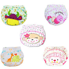 Baby Cotton Training Pants Reusable Cloth Washable Infant Nappies Diaper Welcome