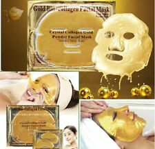 24k Gold Collagen Bio Crystal Mask Face Facial Eye Neck & Lip Anti Ageing Masks