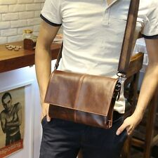 Mew Classic Vintage Leather Men's Coffee Shoulder Messenger Bag Cross Body Purse