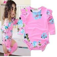 2017 Newborn Baby Rompers Girl Long sleeve Jumpsuit Outfits Clothes Baby-clothes