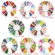 1X Fimo Acrylic Nail Art Decoration Tips 120PC Multicolors Slice Manicure Wheel