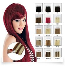 CHISLIMAL Remy Tape In Human Hair Extensions Full Head Grade 7A Ombre colorful
