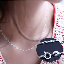 Women Jewelry 925 Sterling Silver Water Wave Chain Necklace ( DIY Necklace )