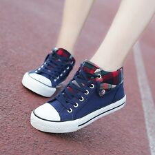 New Women Korean Canvas Loafer Flatform shoes Sports Running Causal Shoes PF10