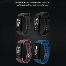 Smart Band Bracelet Watch Pedometer Heart Rate Blood Pressure For Android iOS