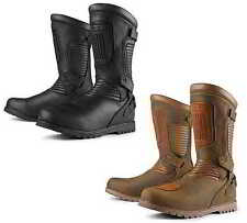 Icon Mens 1000 Prep Waterproof Leather Street Motorcycle Boots All Sizes