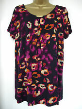 NEW - GEORGE- size 12 - 18 - classic NAVY floral print ladies TOP/ TUNIC - BNWoT