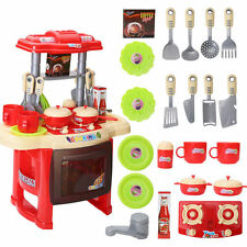 Portable Electronic Children Kids Kitchen Cooking Girl Toy Cooker Play Set AUAT