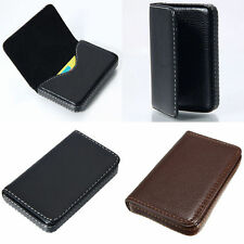 New Leather Pocket Business ID Credit Card Holder Case Wallet With Magnetic Shut
