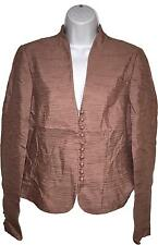 Used Ladies Phase Eight Pink Button Up Blazer Jacket Size UK 12 (A.B)