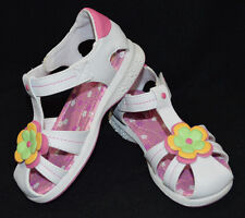 Buster Brown Toddler Girl's Kaylee White/Multi Sandals - Size 6/10