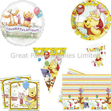 Winnie the Pooh Party Pack for 8 - Plates Cups Napkins Tablecover plus more