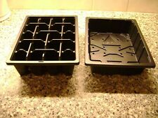 3 TO 50  HALF SIZE SEED TRAYS AND and 20  CELL HALF SIZE SEED TRAY INSERTS