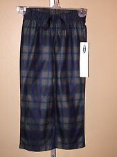 Boy's Old Navy Blue Green Plaid Pajama Lounge Bottoms Pants, Size XS (5)