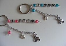 Christening Gift for baby girl or Boy keychain Or wine charm, babies birth