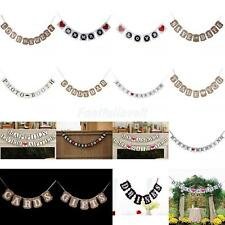 Romantic Bunting Garland Banner for Rustic Country Wedding Party Decoration Prop