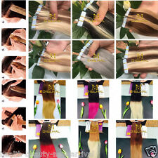 Tape In Weft Human Hair Extensions Long Straight hair Weave 8A  virgin Seamless