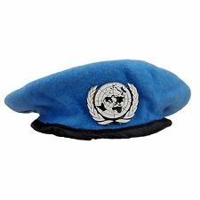 CHINESE THE UNITED NATIONS PEACEKEEPING FORCES BERET HAT CAP BADGE SIZE L-0389