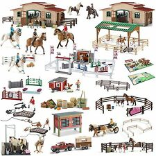 Schleich Accessories Set Horse Feed Riding Saddle Halter Bridle Choose 1 St from
