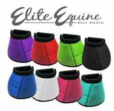 Showman Elite Equine No Turn Durable Neoprene BELL BOOTS Full Horse Size