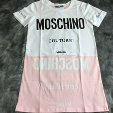 Women's Dress T Shirts Cotton Short Sleeves Pink White Characters Long (Size S)