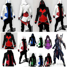 Assassins Creed 3 III Connor Kenway Hoodie Jacket Coat Cosplay Costume TOP GIFT