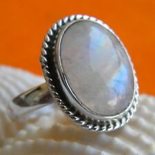 925 Sterling Silver Rainbow Moonstone Ring,Silver Ring,Jewelry Moonstone Ring
