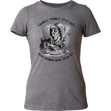 Alice's Adventures In Wonderland Mad Hatter Juniors T-Shirt Tee