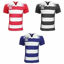 Canterbury Mens Challenge Hooped Short Sleeve Rugby Jersey Top