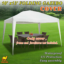 Replacement Top Cover For EZ POP UP 10'X13' Gazebo Canopy Wedding Party Tent