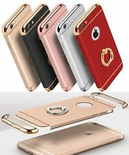 Luxury Electroplate Hard Back Case Cover Ring Holder for Apple iPhone 7 6 S Plus