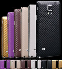 Carbon Fibre Body Skin cover case Protect Wrap Sticker Decal For Samsung note 4