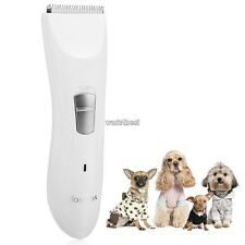 HOMDOX Pet Dog Hair Clipper Cordless Electric Grooming Hair Trimmer Shaver White