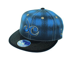 New! Washington Wizards Flex Fitted Hat Embroidered Cap  - Blue Black Plaid