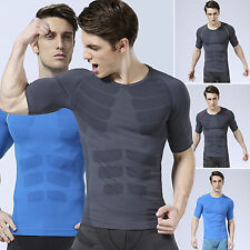 Men Compression Short Sleeve Fitness GYM Base Layer Slim Top Sports Tight Shirts