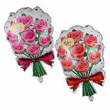 Rose Bouquet Shape Foil Balloon Wedding Anniversary Valentine's Party Decoration